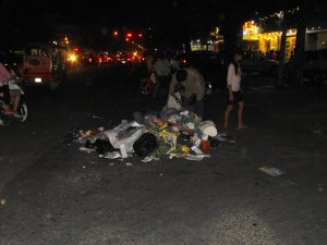 Trash mountian on Nehru Blvd