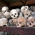 Image from the memorial at the Killing Fields, Cambodia, form Wikipedia Commons.